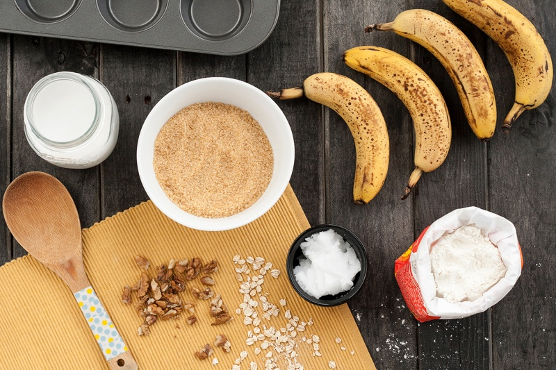 banana muffins ingredients