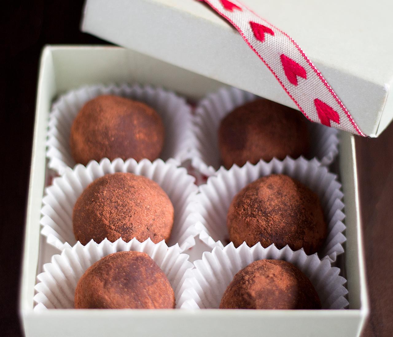 vegan truffles for valentines