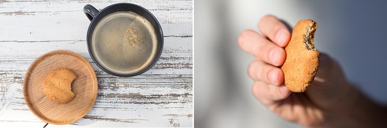 ciasteczko imbirowe w przekroju