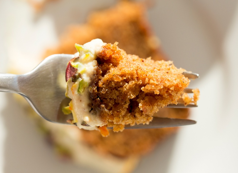 forkful of carrot cake