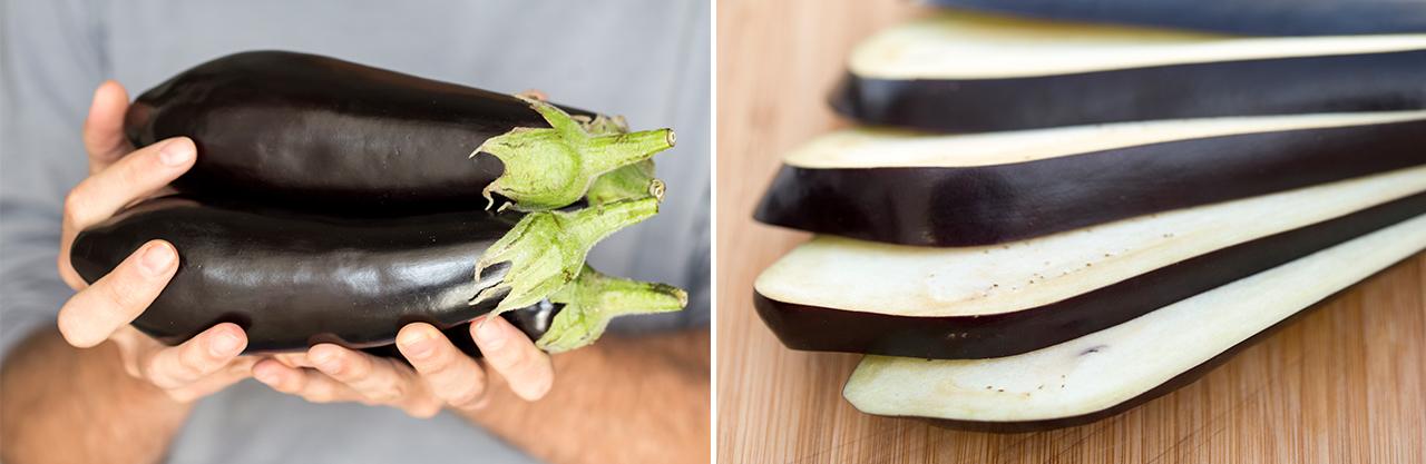 aubergine sliced