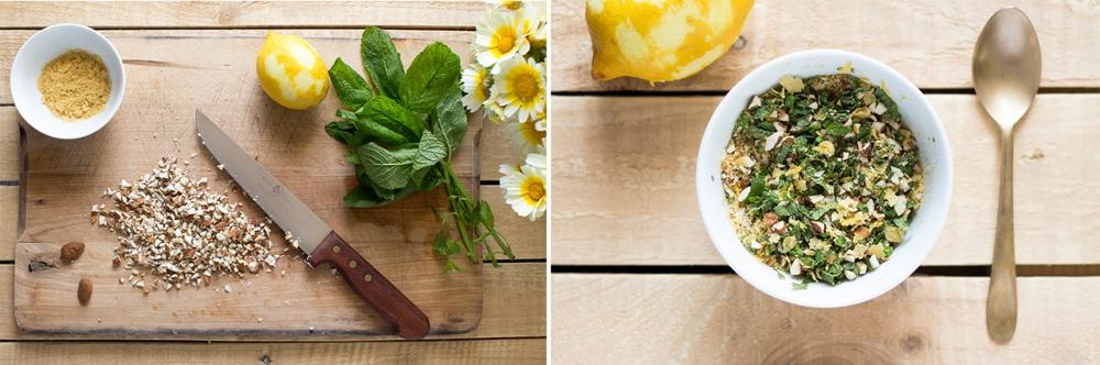 how to make green olive gremolata
