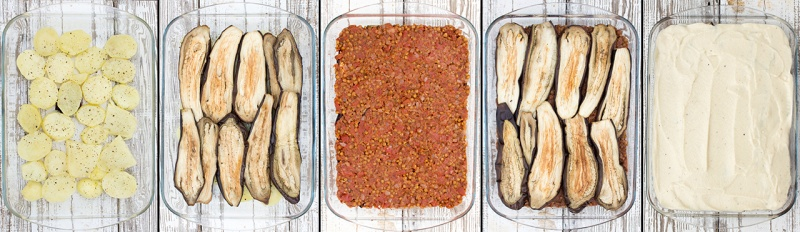 vegan moussaka step by step