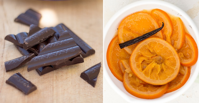 orange and chocolate