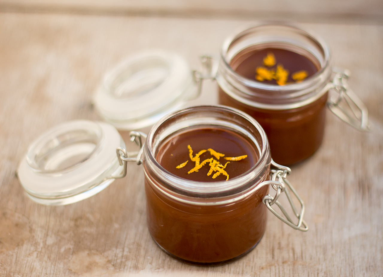 Orange Chocolate Pots For Two