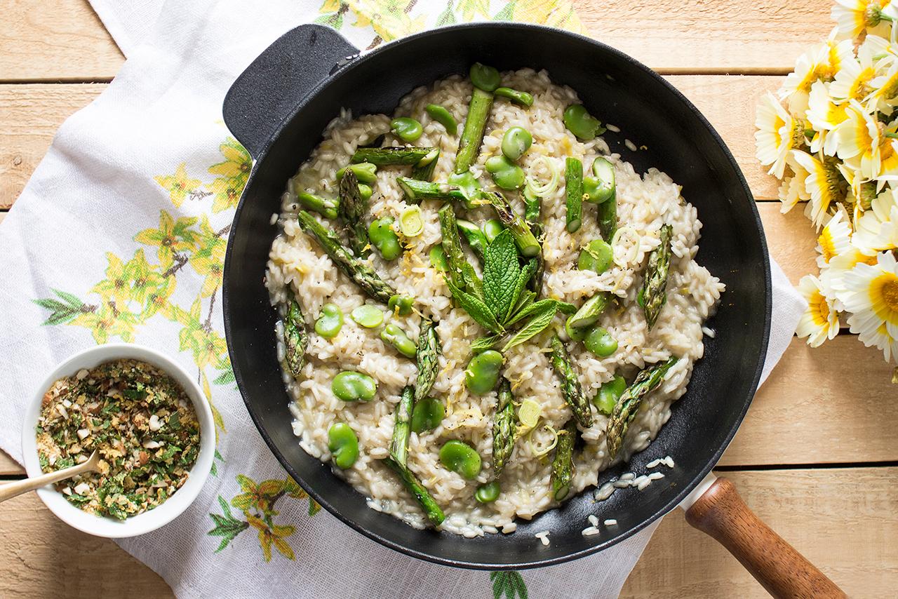 wiosenne risotto dla czworga