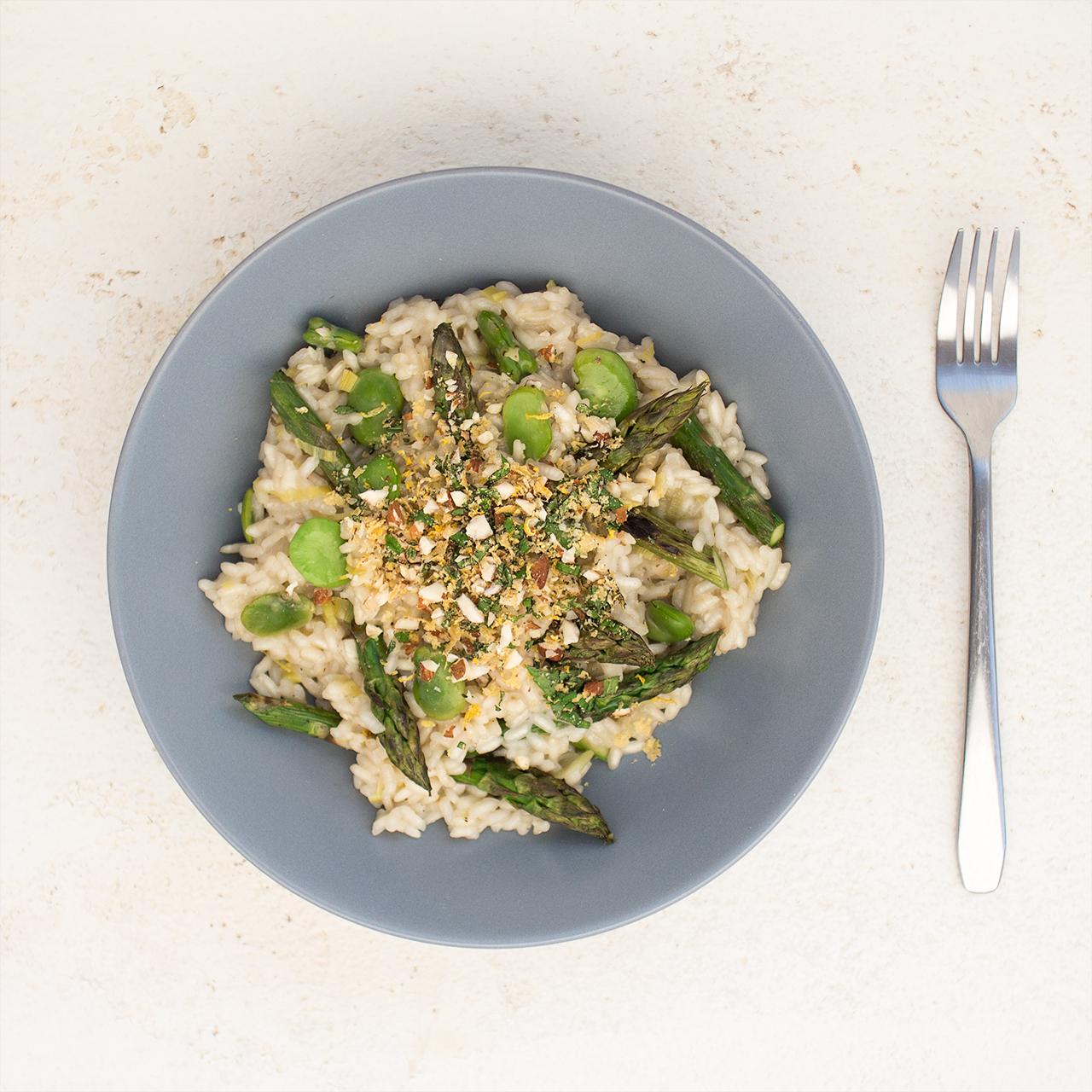 wiosenne risotto porcja