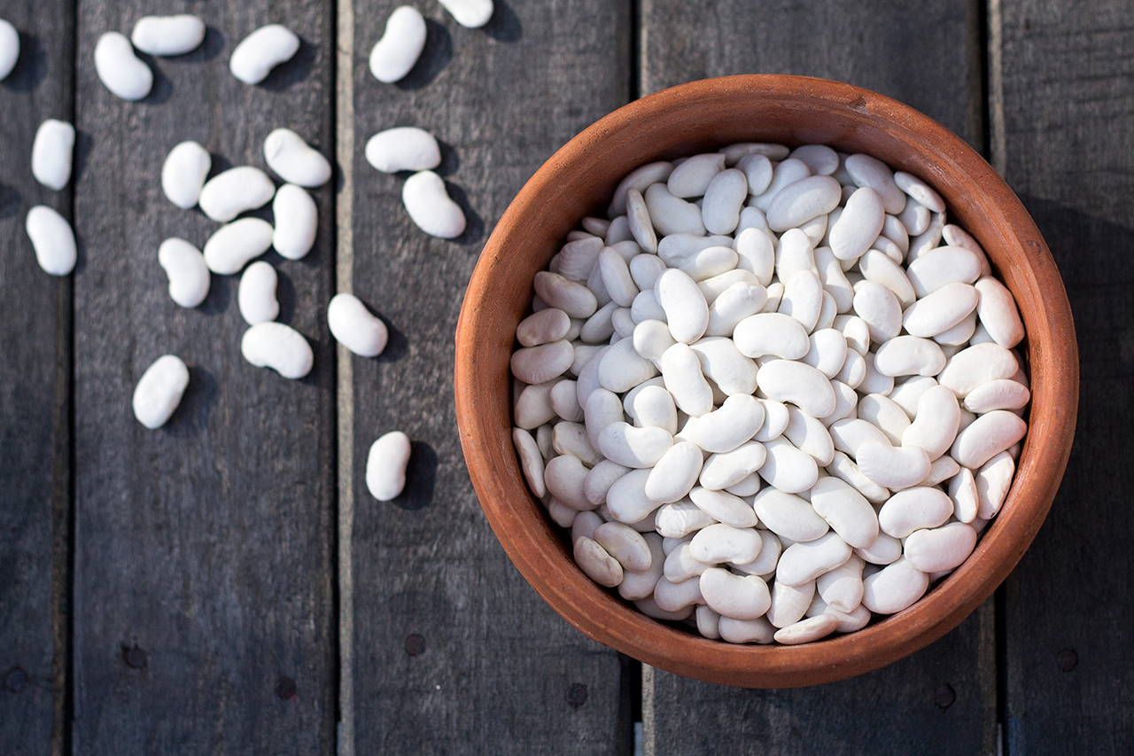 White Beans In Terracota Pot