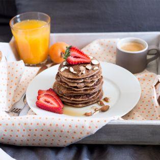 buckwheat pancakes breakfast in bed