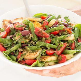 nicoise inspired vegan salad