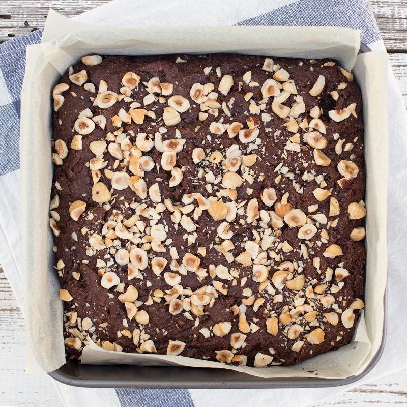 vegan hazelnut brownies