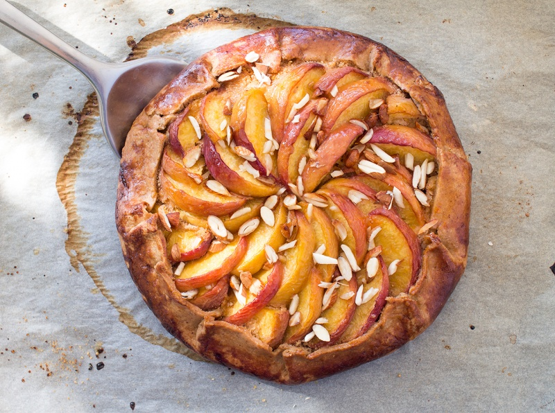 Peach Frangipane Galette Recipe — Dishmaps
