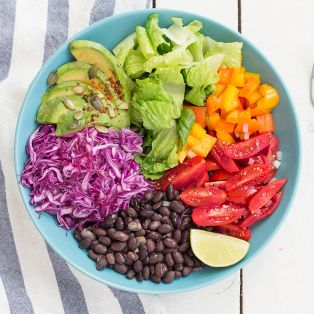 burrito salad portion
