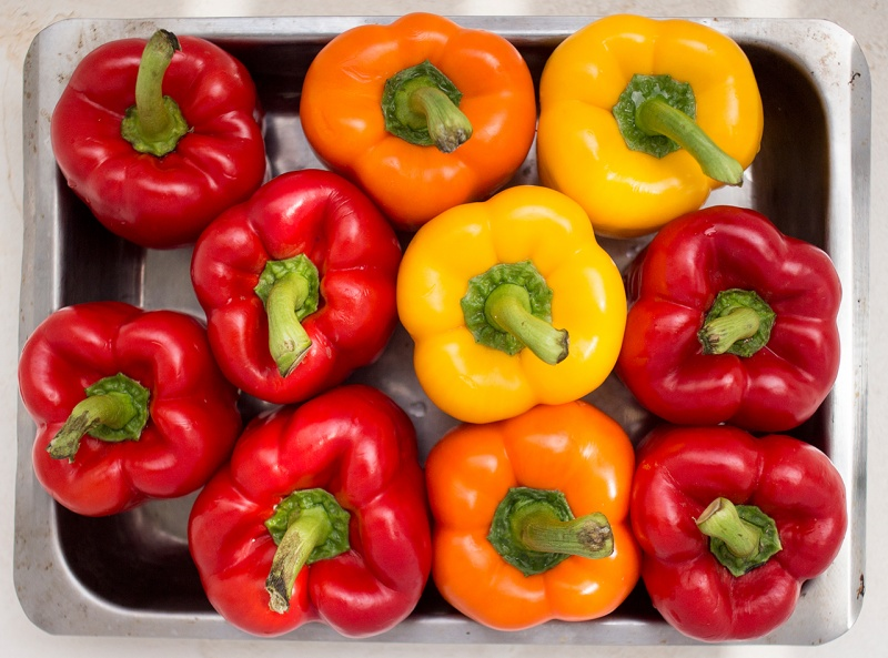fitting peppers roasting tray