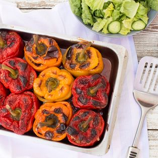 gemista greek stuffed peppers