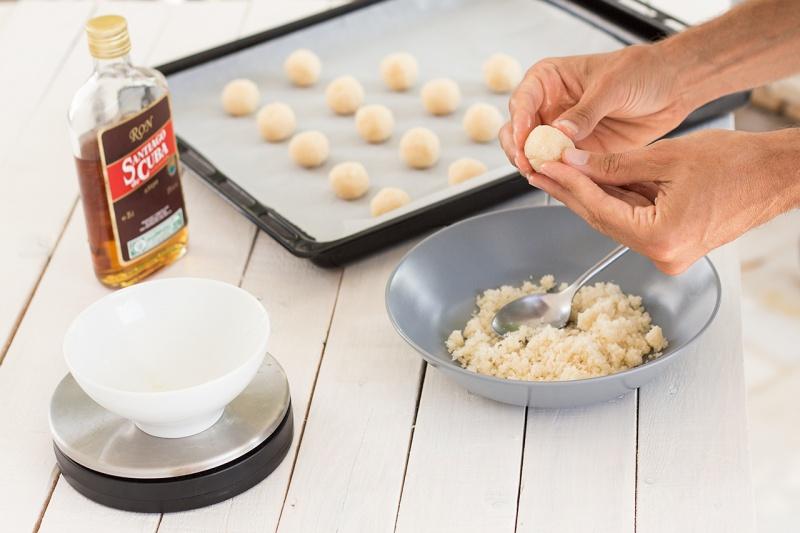 making vegan coconut truffles