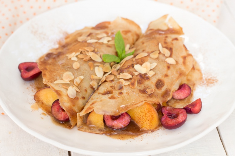 vegan crepes portion