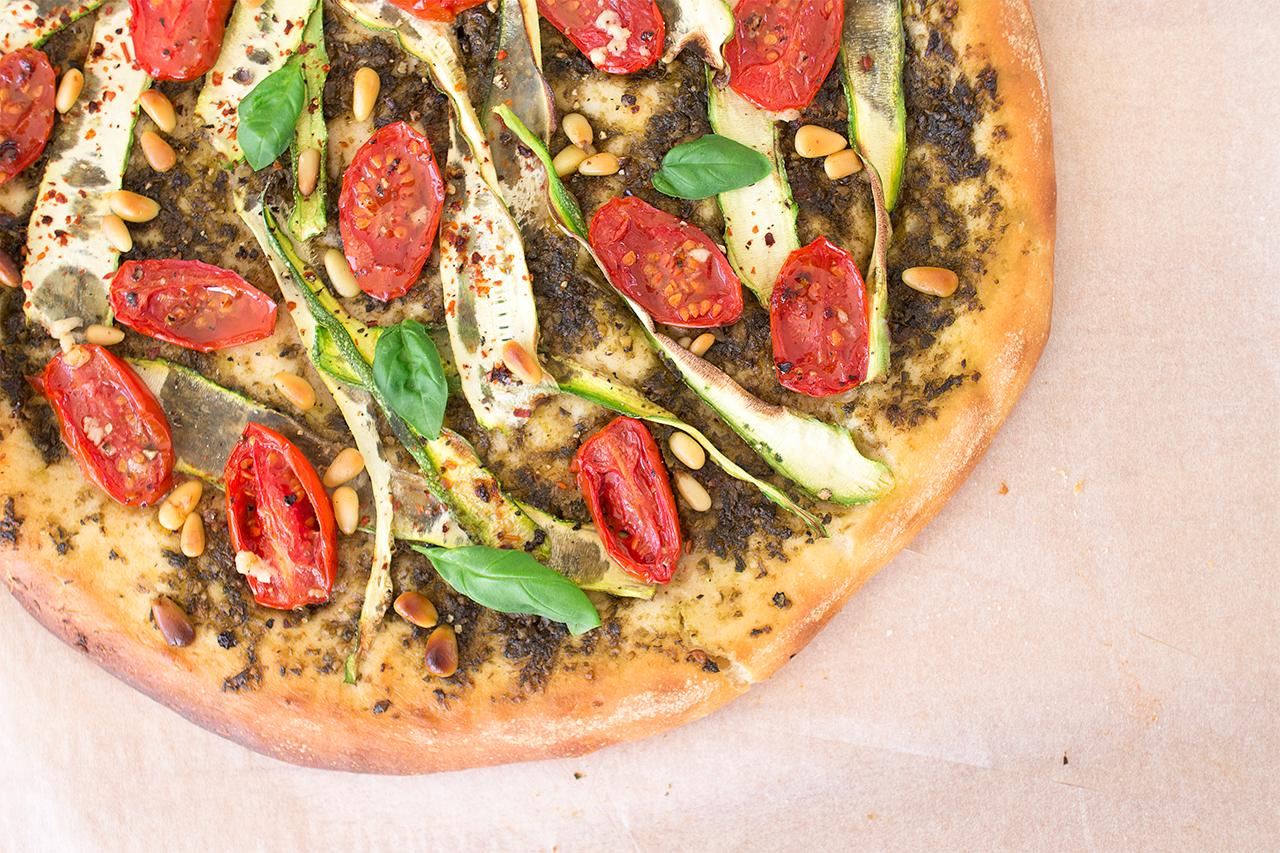wegańska pizza zbliżenie