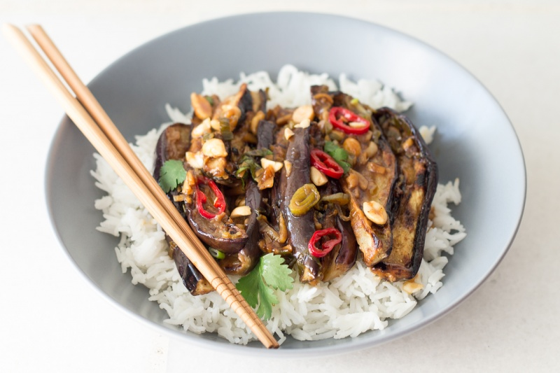 vegan Kung Pao chicken Portion