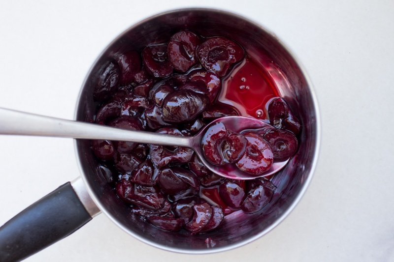 cherries stewed