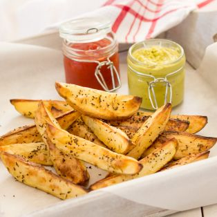 potato wedges with wasabi dip