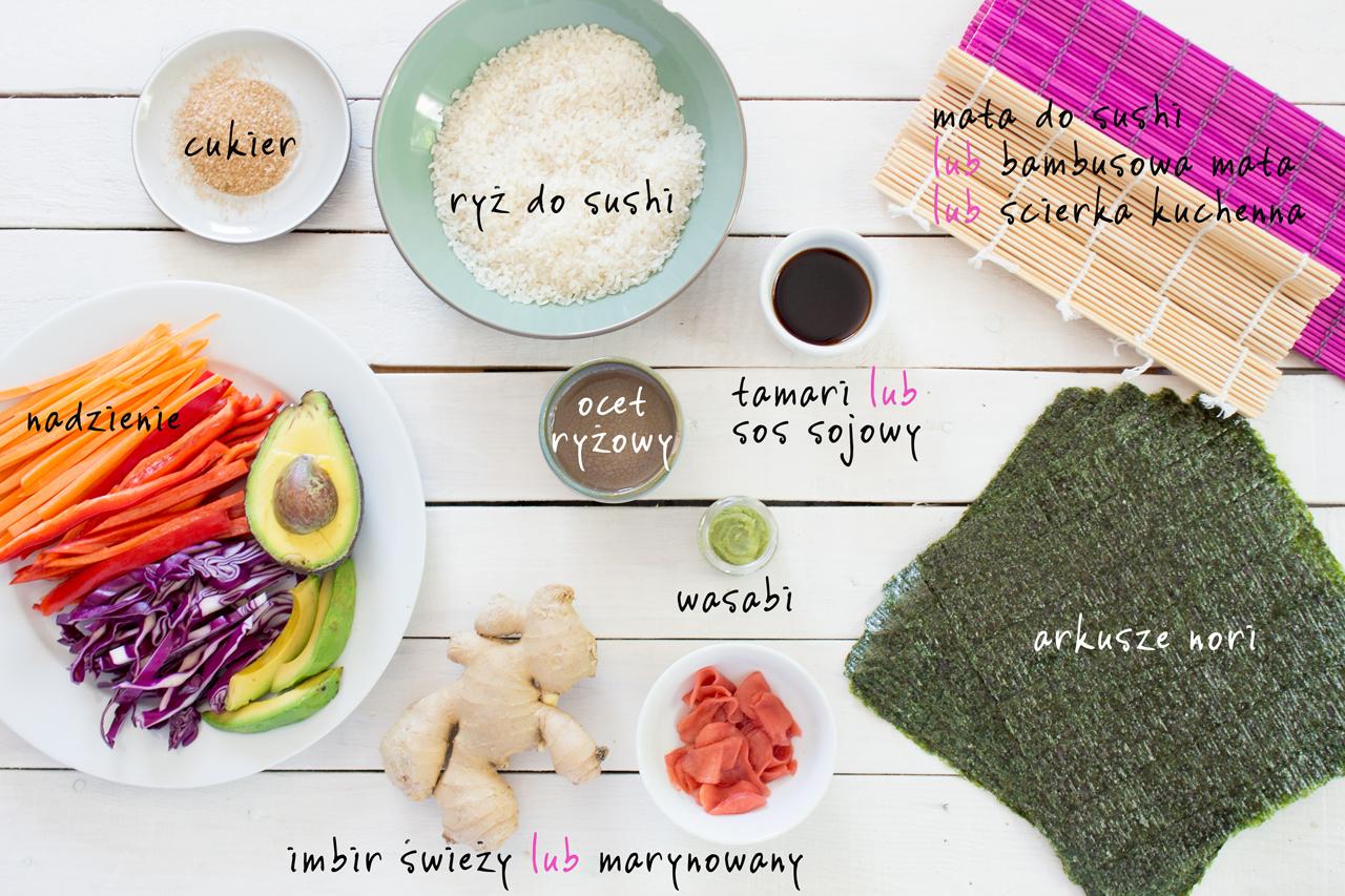 weganskie sushi składniki