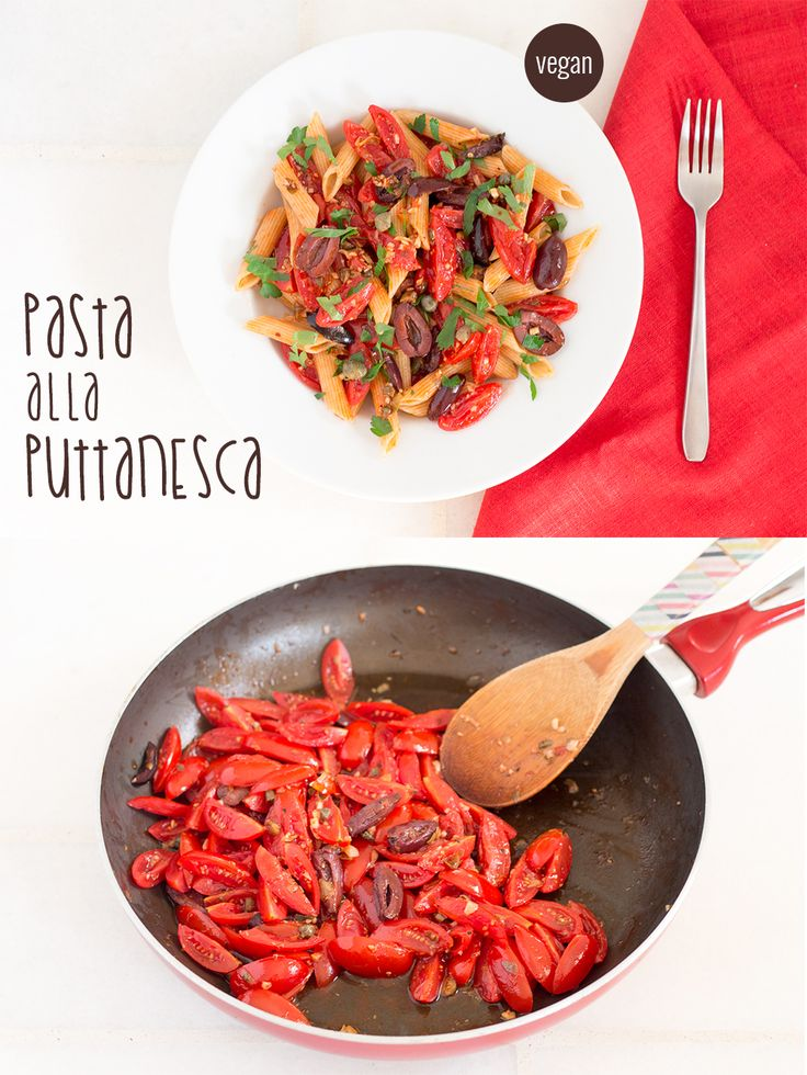 vegan puttanesca pinterest
