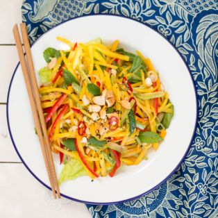 thai mango salad portion top down