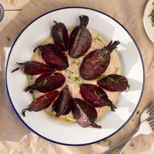 beetroot with Greek skordalia sauce