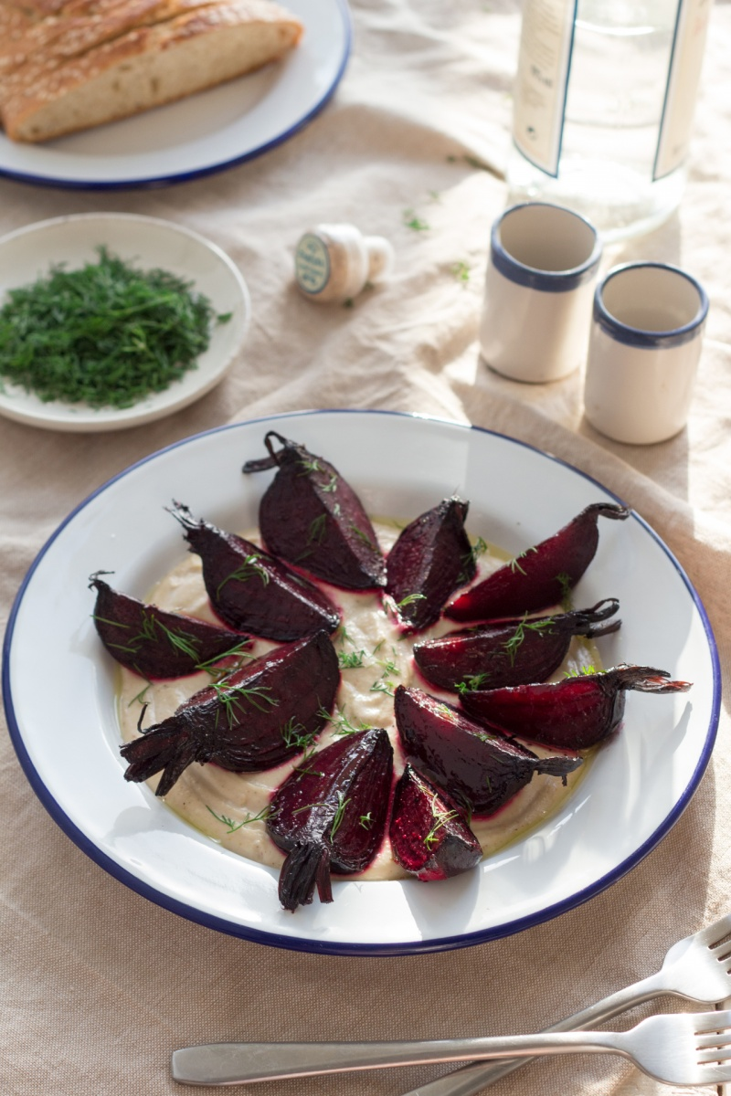 beetroots with skordalia lunch