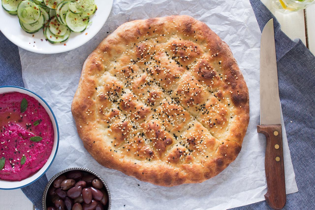 turecki chleb do zagniatania z góry