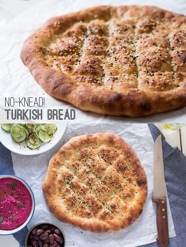 No Knead Turkish Bread Lazy Cat Kitchen