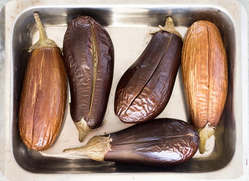 pre roasted aubergines