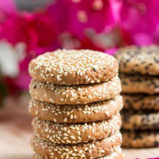 tahini cookies stack