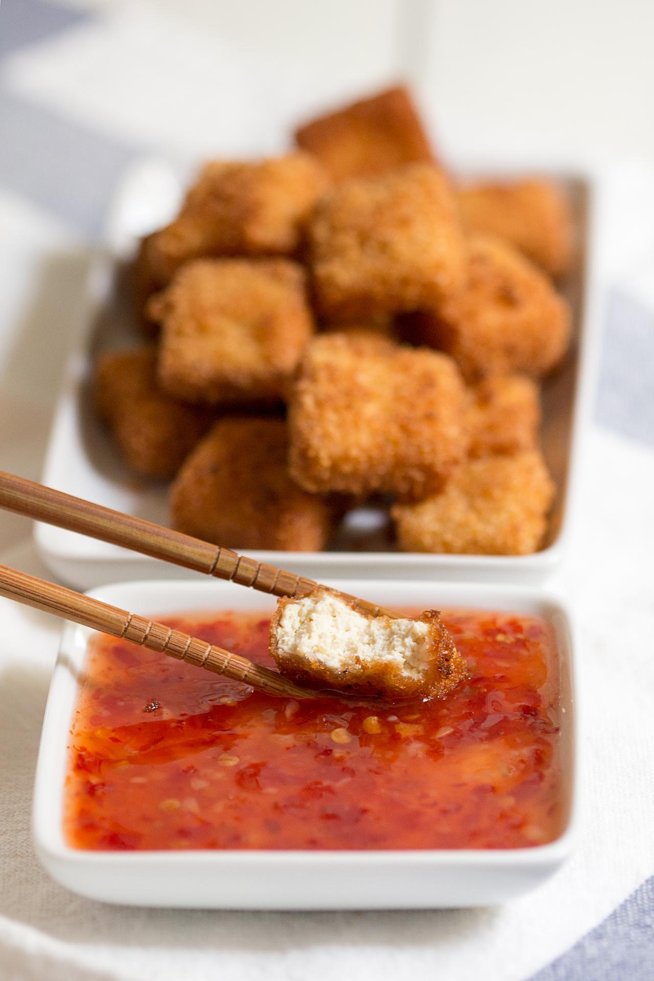 chrupiące tofu przekrój