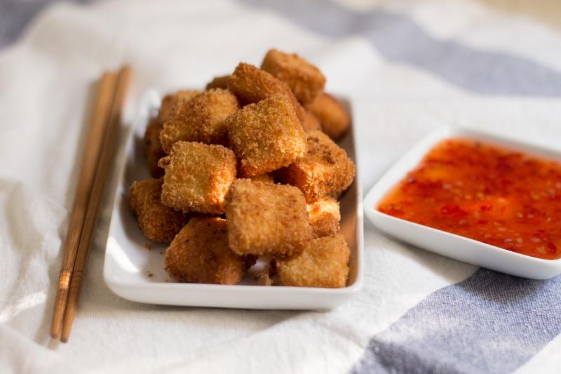 tofu katsu with chilli sauce