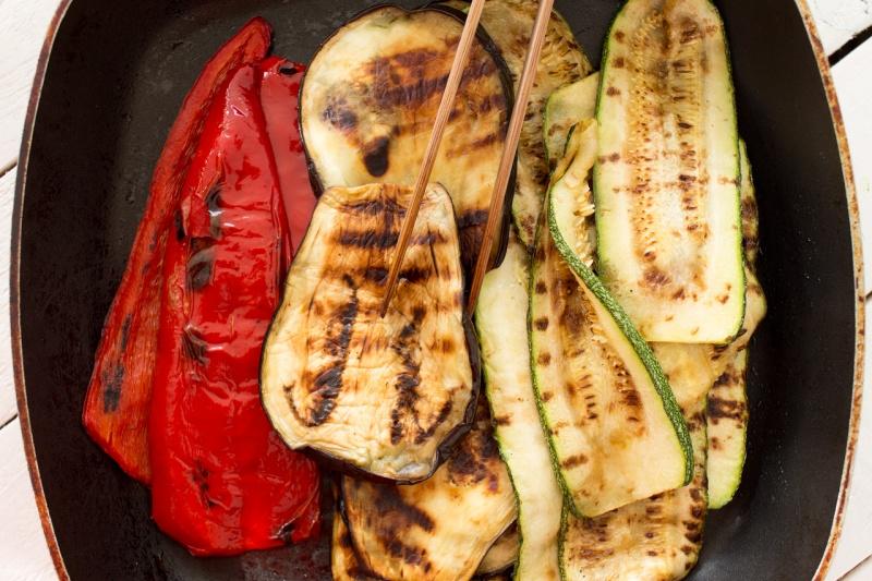 Mediterranean vegan sandwich grilled vegetables
