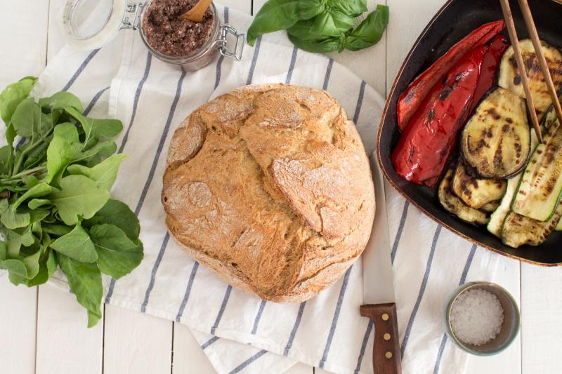 Mediterranean vegan sandwich ingredients