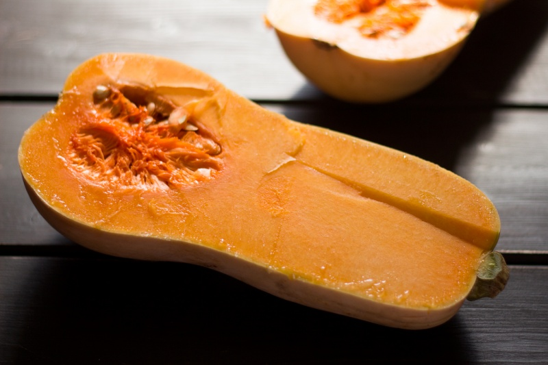 butternut squash cut open