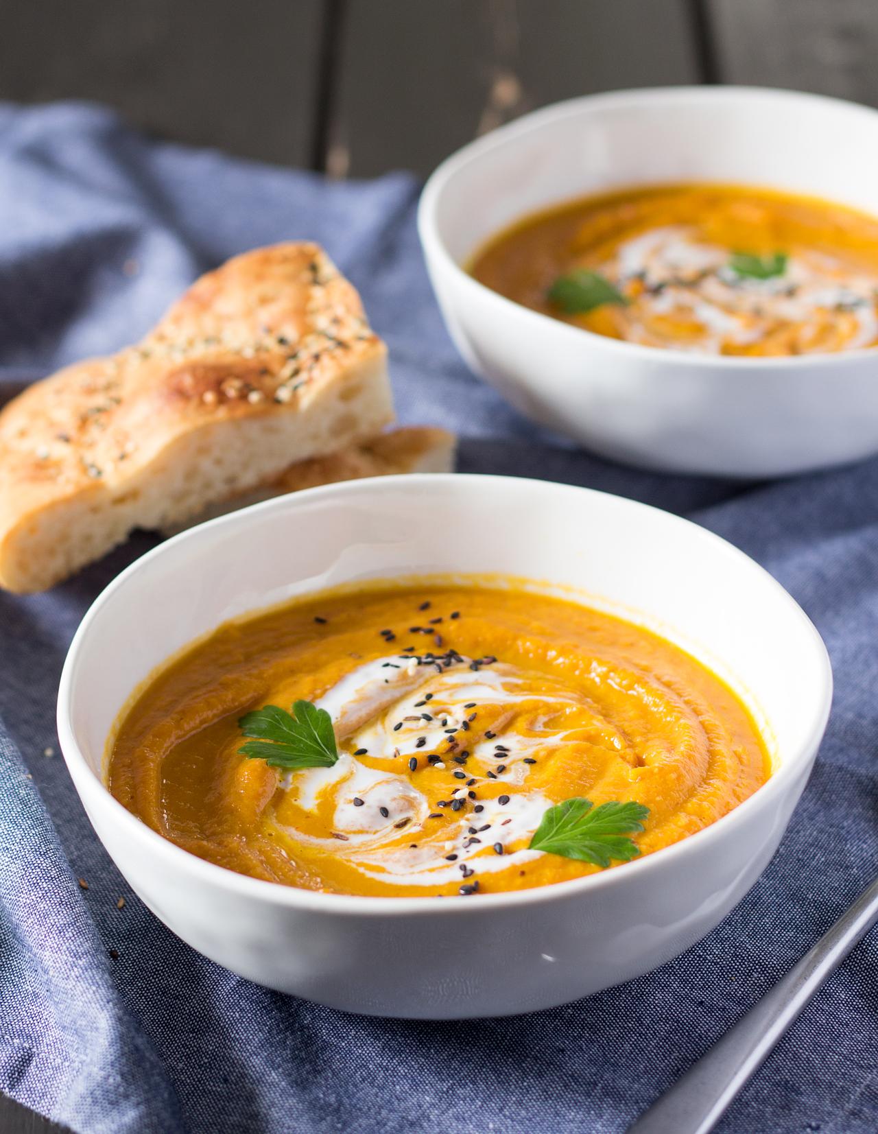 krem curry z marchwi i soczewicy