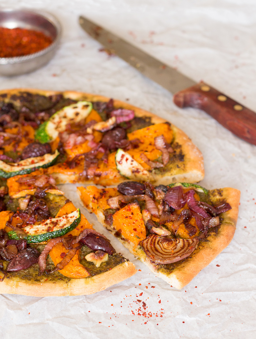 fall pizza with pumpkin lazy cat kitchen