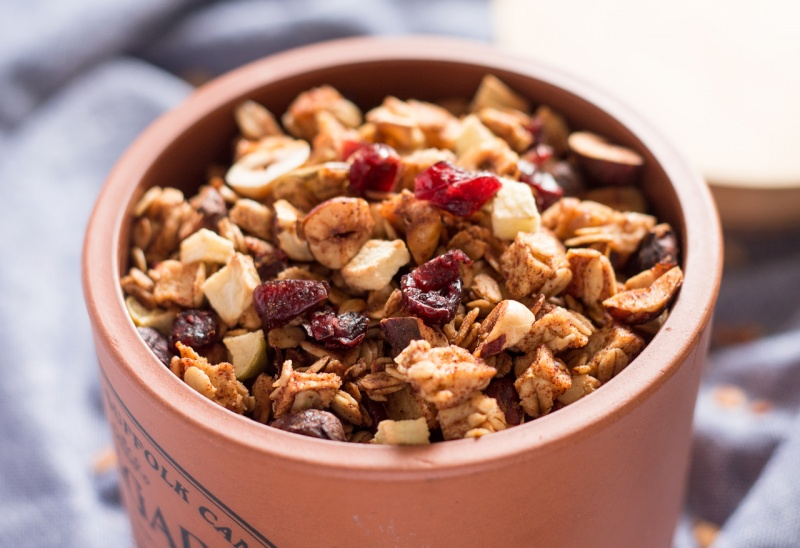 low fat apple granola