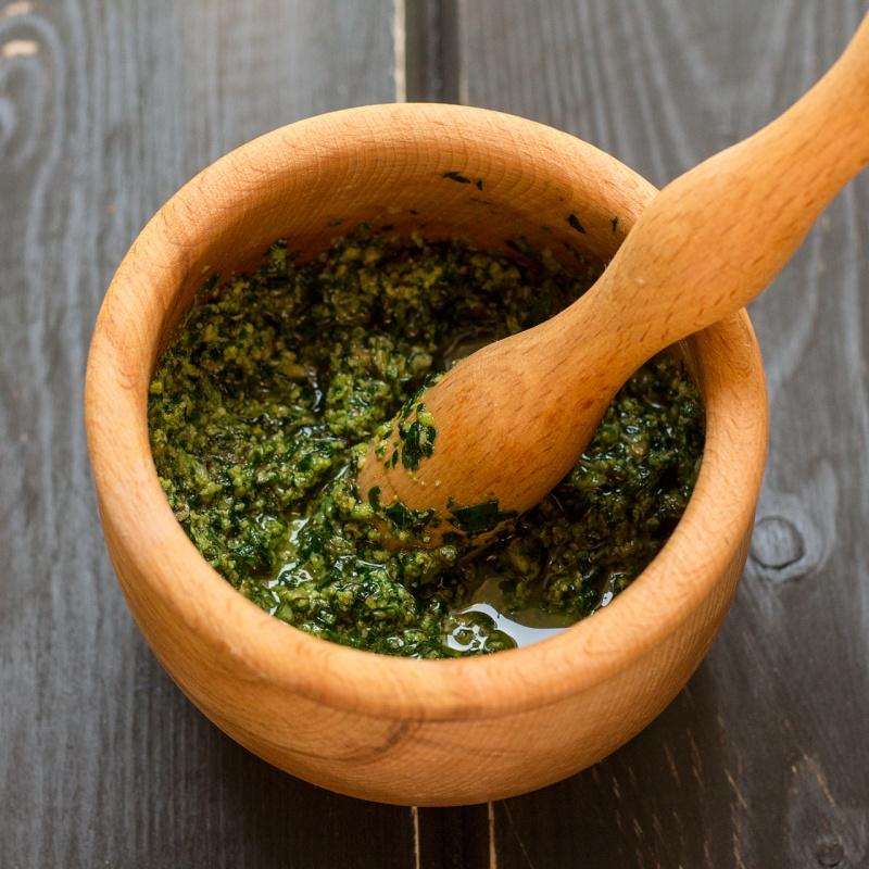 basil and parsley pesto