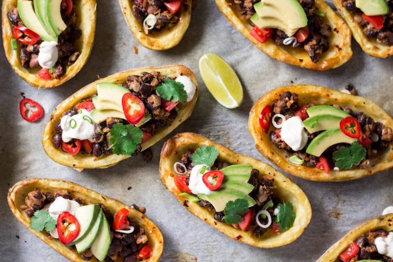 mexican potato skins top down close