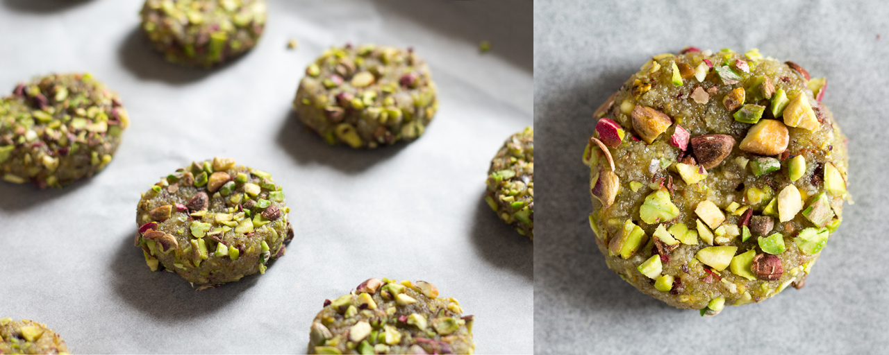 vegan flourless pistachio cookies raw