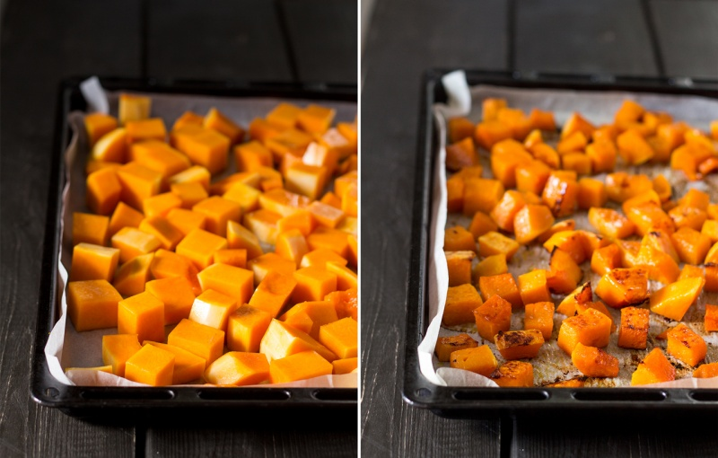 butternut squash before and after