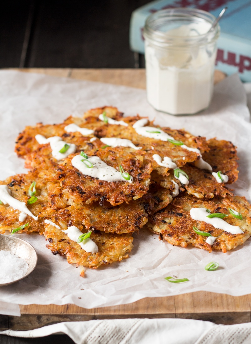 vegan latkes serving suggestion