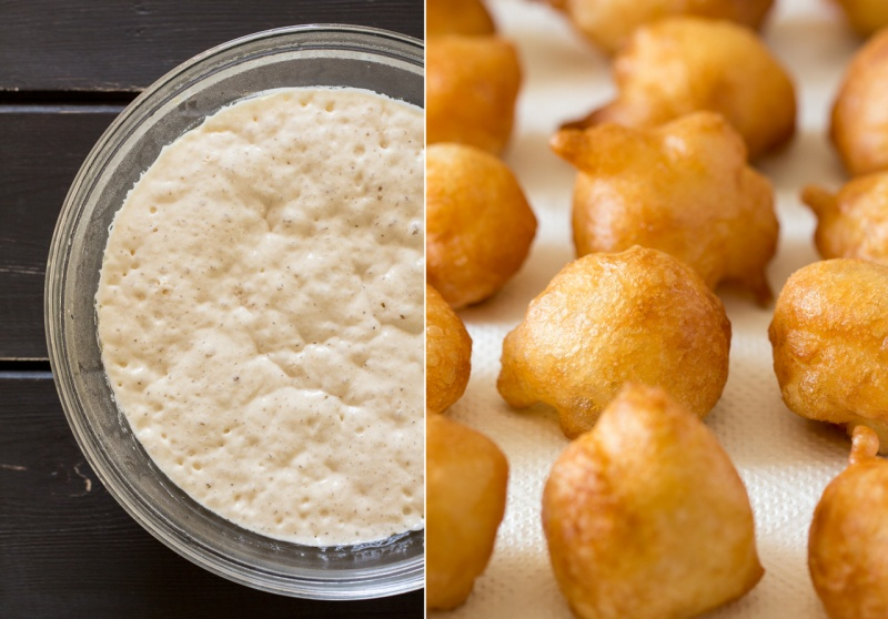 loukoumades greek doughnuts dough and fried puffs