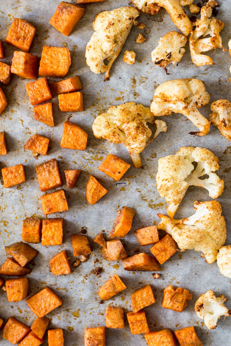roasted-sweet-potatoes-and-cauliflower