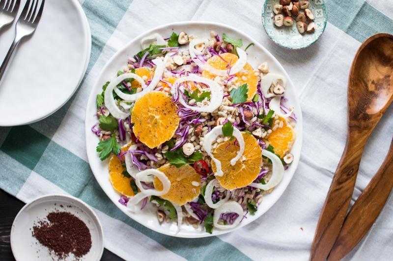 vegan fennel orange salad for six